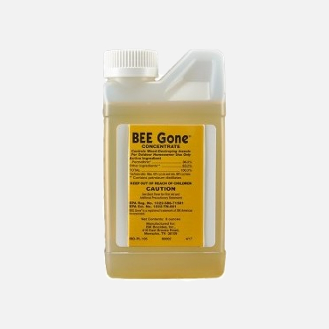 Button for product page showing BEE Gone Concentrate Insecticide 8 oz container
