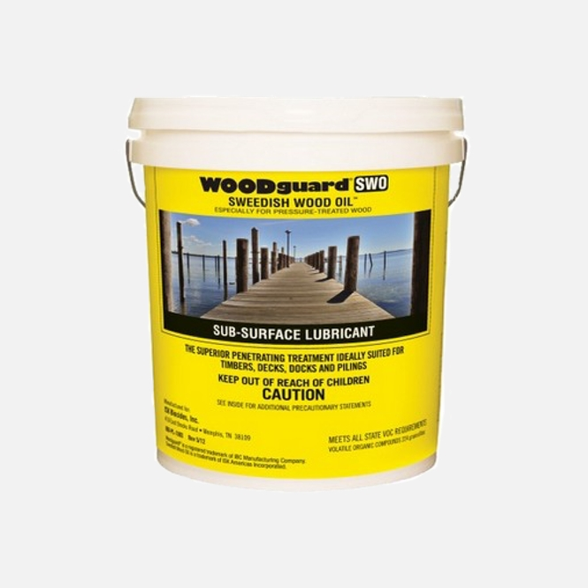Button for product page showing Swedish Wood Oil 5-gallon bucket